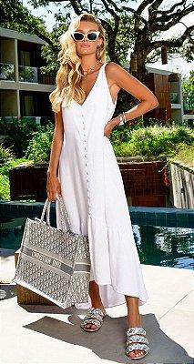 Vestido Jade Branco | RIVIERA FRANCESA