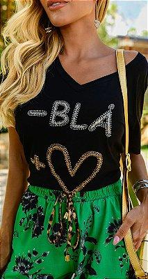 T-shirt Bordada - Blá + Amor  | RIVIERA FRANCESA