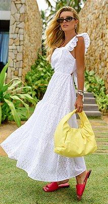 Vestido Mégan Branco | RIVIERA FRANCESA