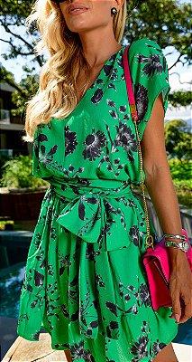 Vestido Floral Print Rosalie | RIVIERA FRANCESA