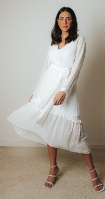 SPRING PREVIEW    Vestido Poá Amarração Yhasmin