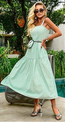 Vestido Midi Adeline Verde | RIVIERA FRANCESA
