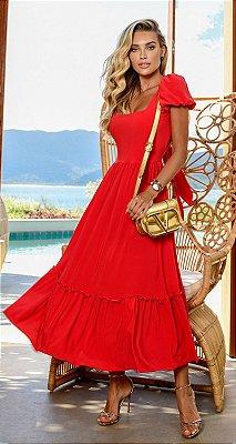Vestido Adrien Vermelho | RIVIERA FRANCESA
