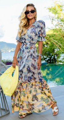 Saída/Vestido Alexandrina Ocean Blue | RIVIERA FRANCESA