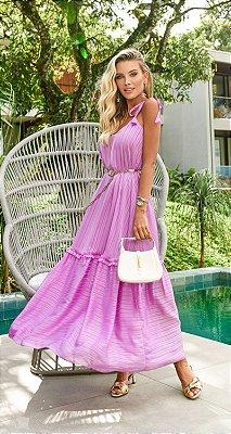 Vestido Dominique Lilás | RIVIERA FRANCESA