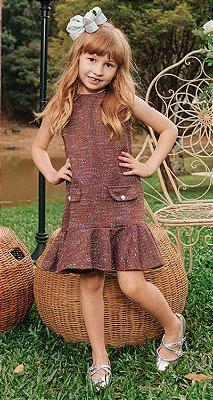 Vestido Tweed Infantil Blessinha Amanda | DNA Blessed