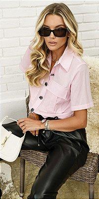 Camisa Cropped Básica Tricoline Íris | WINTER BLESSED