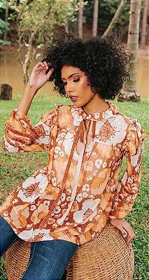 Blusa Detalhe Veludo Margareth | DNA BLESSED