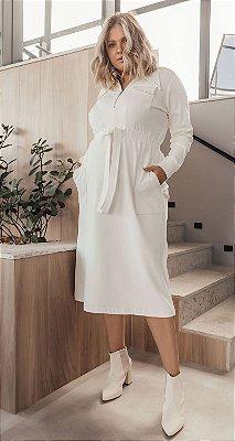 Vestido Bandagem C/ Zíper, Bolsos e Amarração Halia | DNA BLESSED