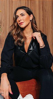 Blusa Malha Power C/ Detalhe Exclusive Fake Simone | WINTER BLESSED