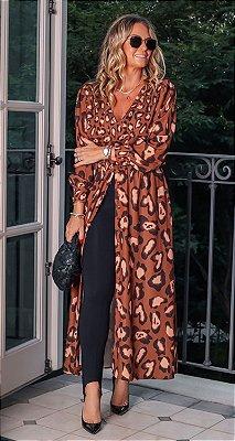 Vestido Túnica Onça C/ Fenda Regulável Karina | DNA BLESSED