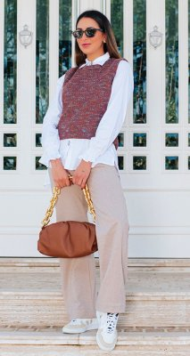 Colete Tweed Amanda C/ Broche | WINTER BLESSED