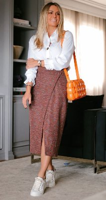 Saia Tweed Amanda C/ Fenda Frontal | WINTER BLESSED