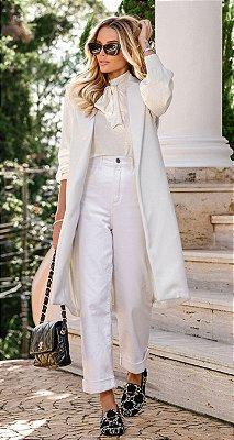 Maxi Colete de Lã Sueli Off White | DNA BLESSED