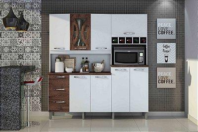 Armário de Cozinha 8 Portas 3 Gavetas Criative Valdemóveis