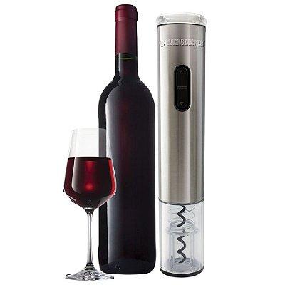 Abridor Garrafa De Vinho À Pilha Black Decker Wine Inox