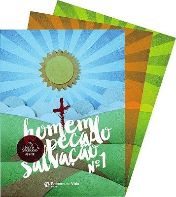 Hora Silenciosa Júnior - Homem, pecado e salvação (3 revistas)