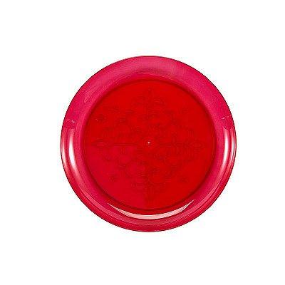 Prato Plástico Redondo Vermelho
