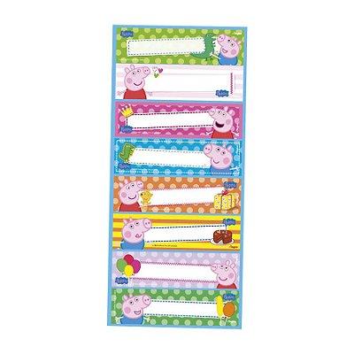 Adesivo Retangular - Peppa Pig - 03 cartelas