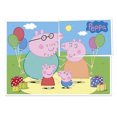 Painel 4 Folhas - Peppa Pig