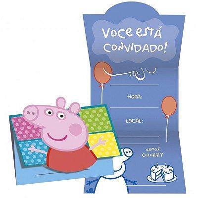 Convite - Peppa Pig - 08 unidades