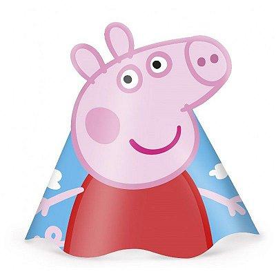 Chapéu de Aniversário - Peppa Pig - 08 unidades