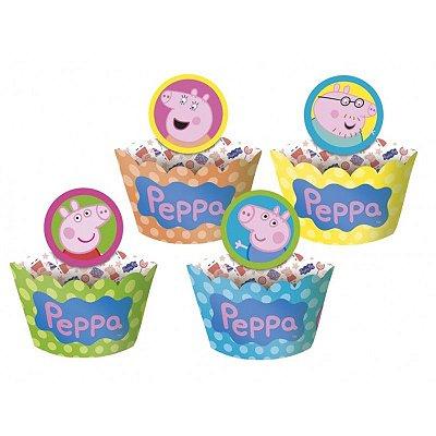 Saia para Cupcake - Peppa Pig - 12 unidades