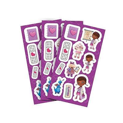 Adesivo para Lembranças - Doutora Brinquedos - 04 cartelas