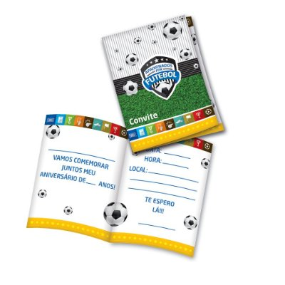 Convite de Aniversário Futebol