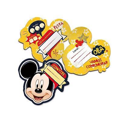 Convite de Aniversário Mickey Mouse