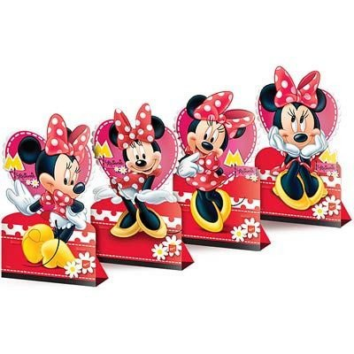 Decoração de Mesa - Minnie Vermelha - 04 unidades