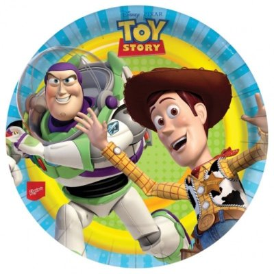 Prato de Papel - Toy Story no Espaço - 08 unidades