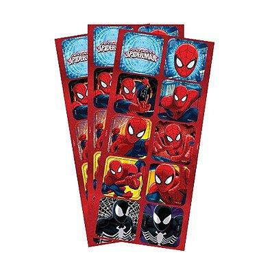 Adesivo Quadrado - Homem Aranha Ultimate - 30 unidades