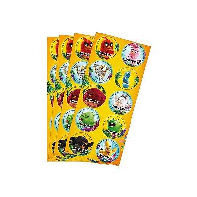 Adesivo Decorativo Angry Birds- 3 cartelas