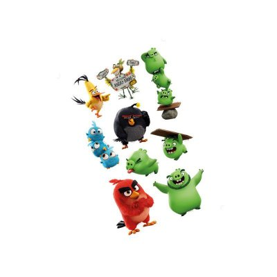 Mini Personagens Decorativos Angry Birds