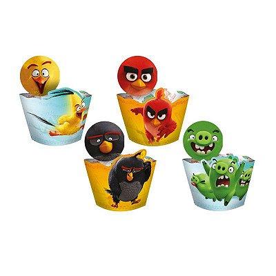 Saia para Cupcake e Enfeite Angry Birds