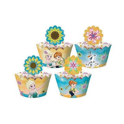 Saia para Cupcake - Frozen Febre Congelante - 12 unidades