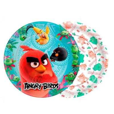 Prato de Papel - Angry Birds - 08 unidades