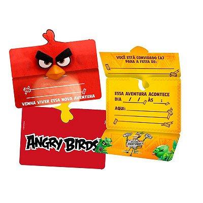 Convite de Aniversário Angry Birds