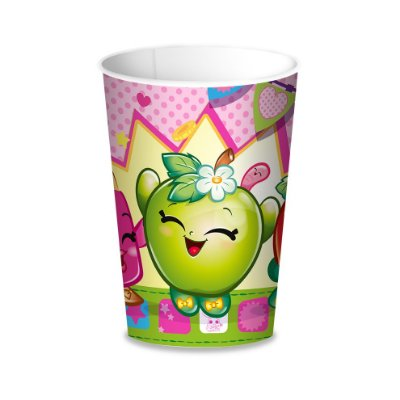 Copo de Papel 200ml  - Shopkins - 08 unidades