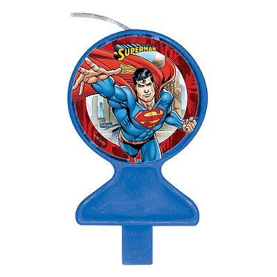 Vela de Aniversário Plana Superman