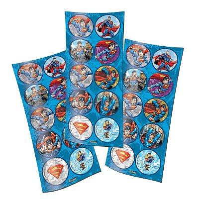 Adesivo Redondo - Superman - 03 cartelas