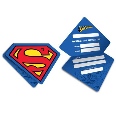 Convite Superman - 08 unidades