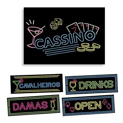 Kit Painel Decorativo Cassino