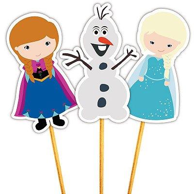 Enfeite Para Cupcake Amigos e Princesa do Gelo