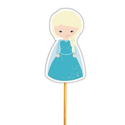 Enfeite para Cupcake Princesa do Gelo