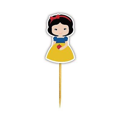 Enfeite Para Cupcake Princesa Branca Neve