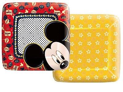 Prato de Papel - Mickey Mouse - 08 unidades