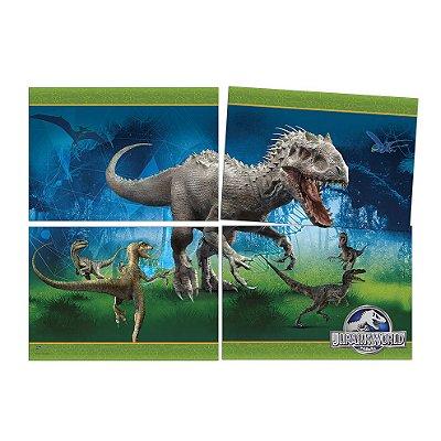 Painel 4 Folhas - Jurassic World