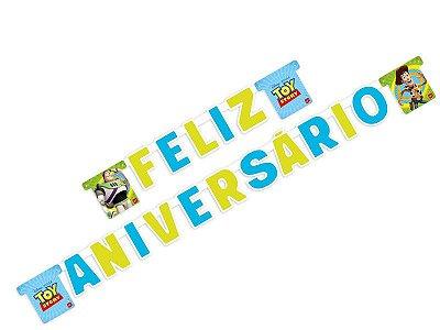 Faixa Feliz Aniversário Toy Story